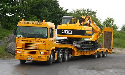 J.C.B. Demonstration fleet and transport.